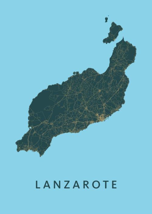 Lanzarote Azure Island Map
