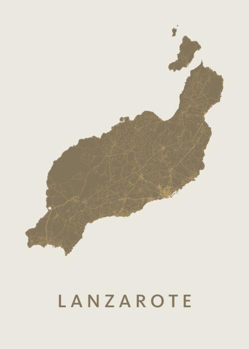 Lanzarote Gold Island Map
