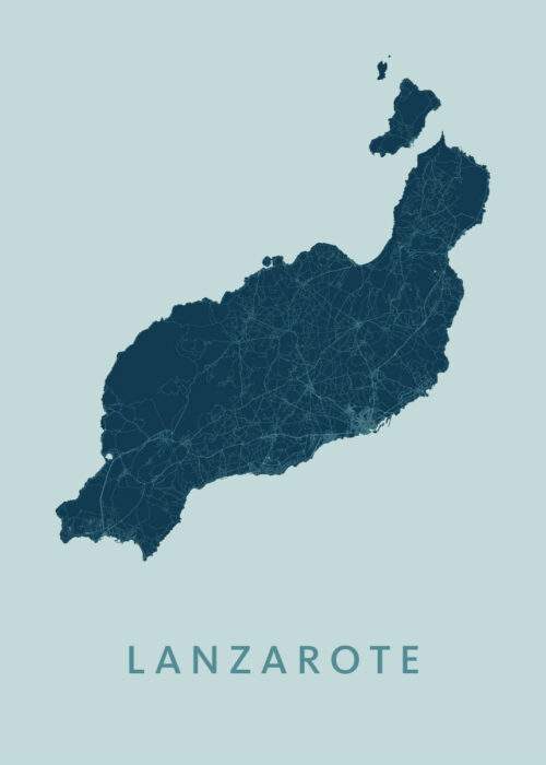 Lanzarote Mint Island Map