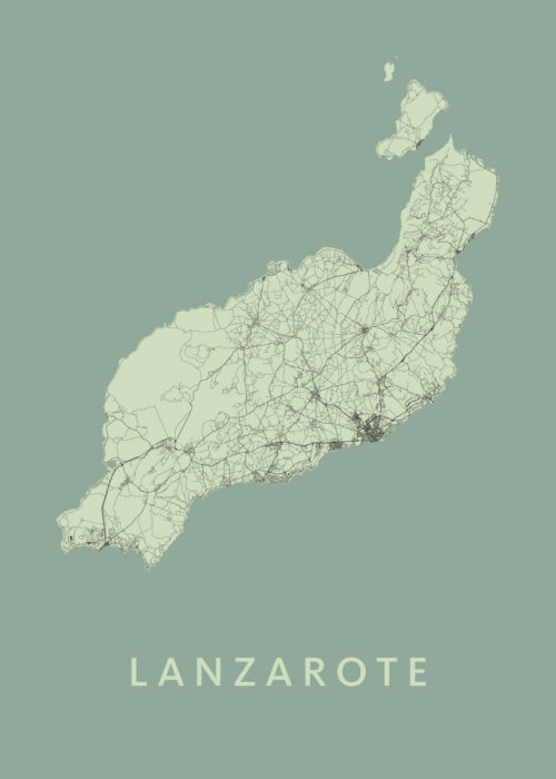 Lanzarote Olive Island Map