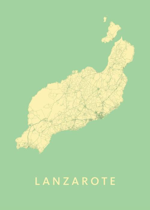 Lanzarote Spring Island Map