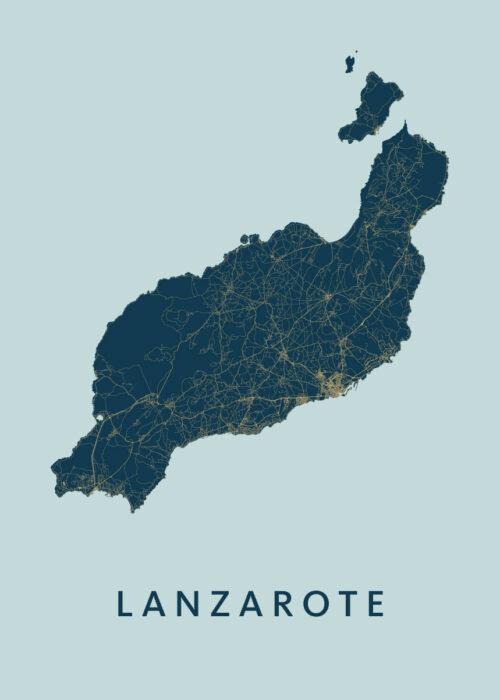 Lanzarote Prussian Island Map