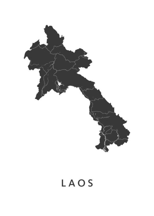 Laos Country Map