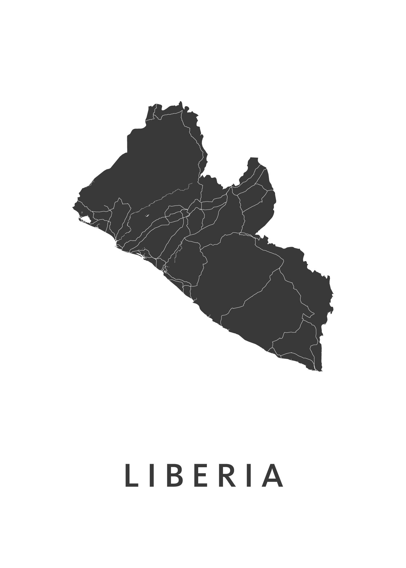 Liberia Landkaart