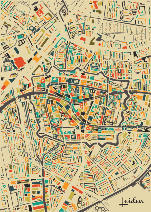 Leiden Autumn Mosaic Map