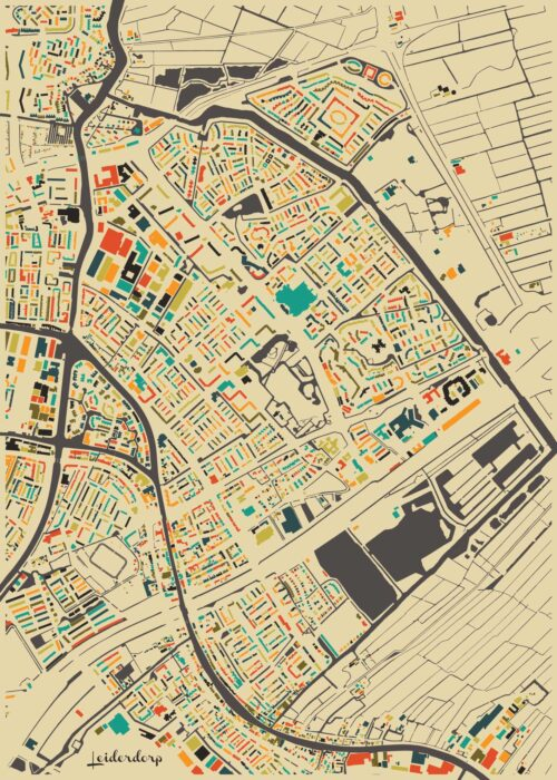 Leiderdorp Autumn Mosaic Map