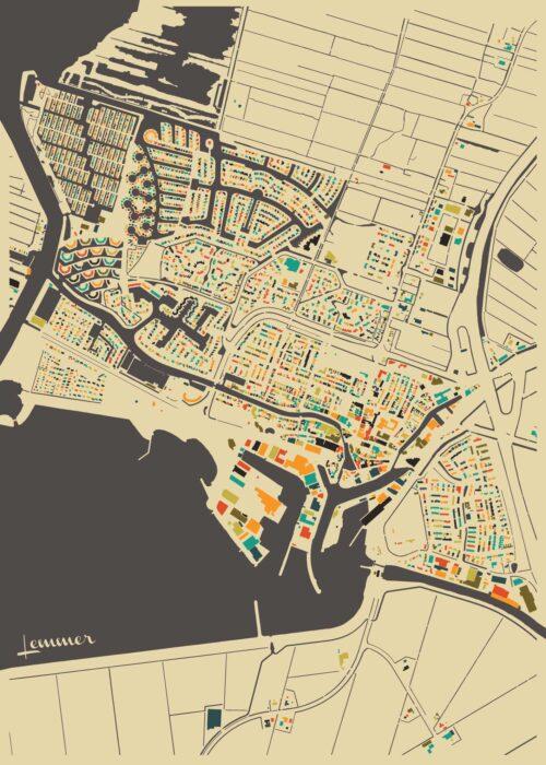 Lemmer Autumn Mosaic Map