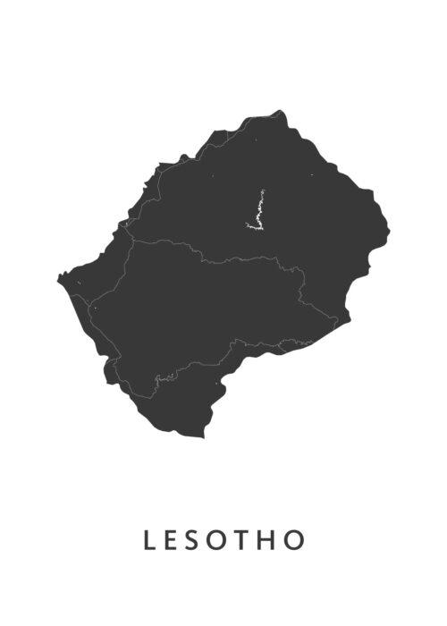 Lesotho Landkaart