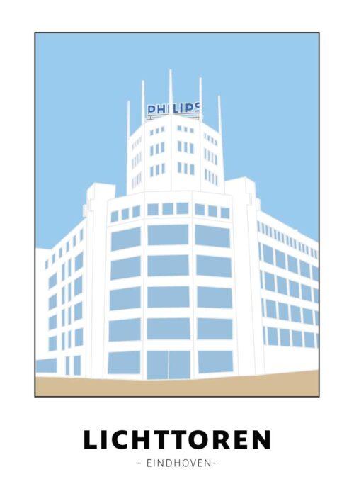 Lichttoren - Eindhoven - Poster