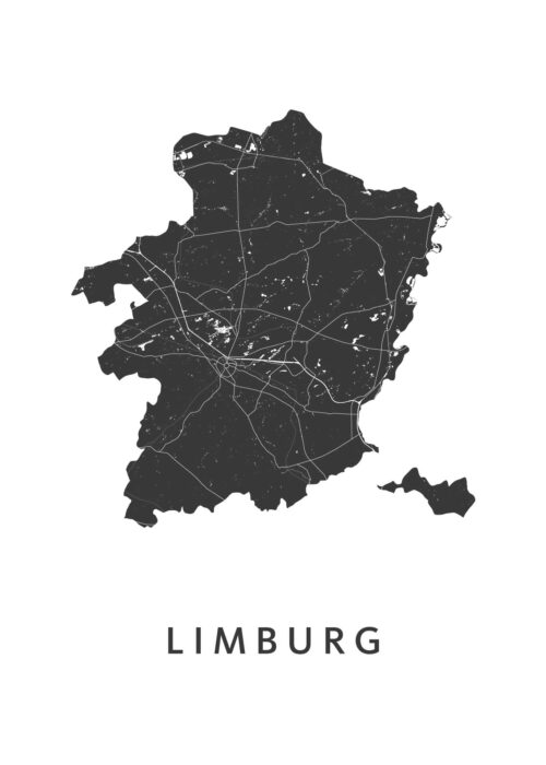 Limburg Provinciekaart Poster