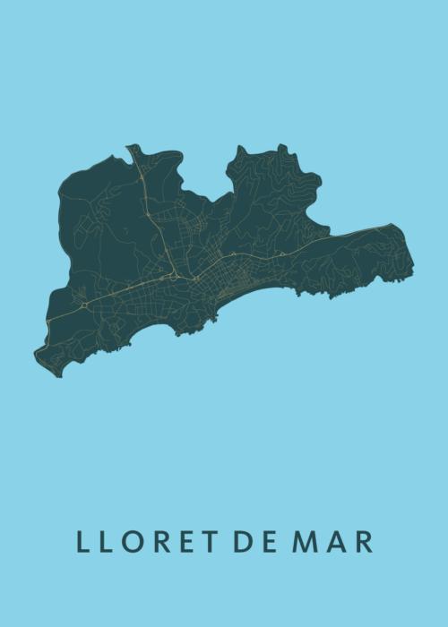 Lloret de Mar Azure City Map