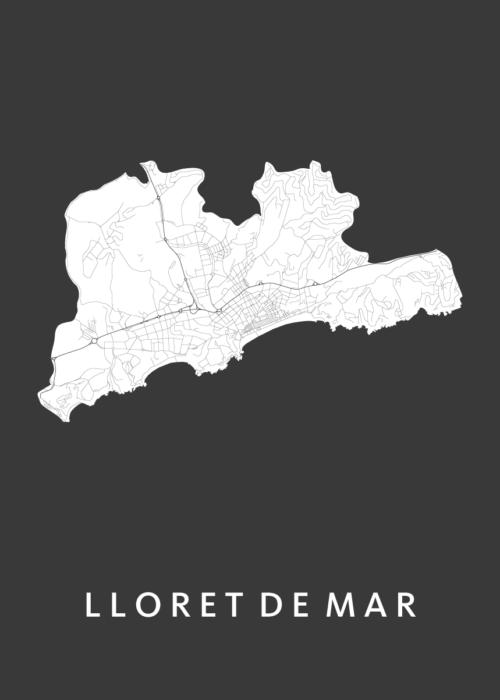 Lloret de Mar Black City Map