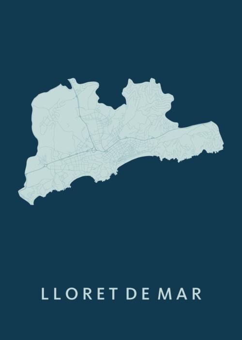 Lloret de Mar Feldgrau City Map