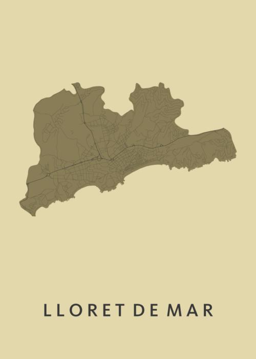 Lloret de Mar GoldenRod City Map