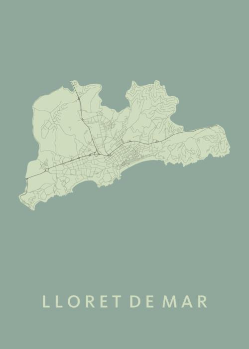 Lloret de Mar Olive City Map