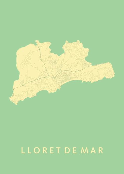 Lloret de Mar Spring City Map