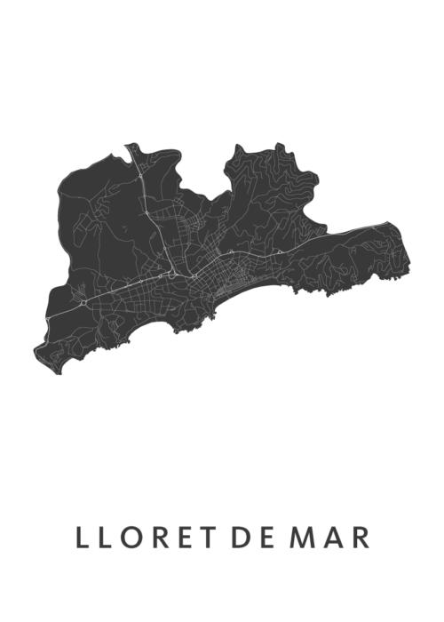 Lloret de Mar White City Map