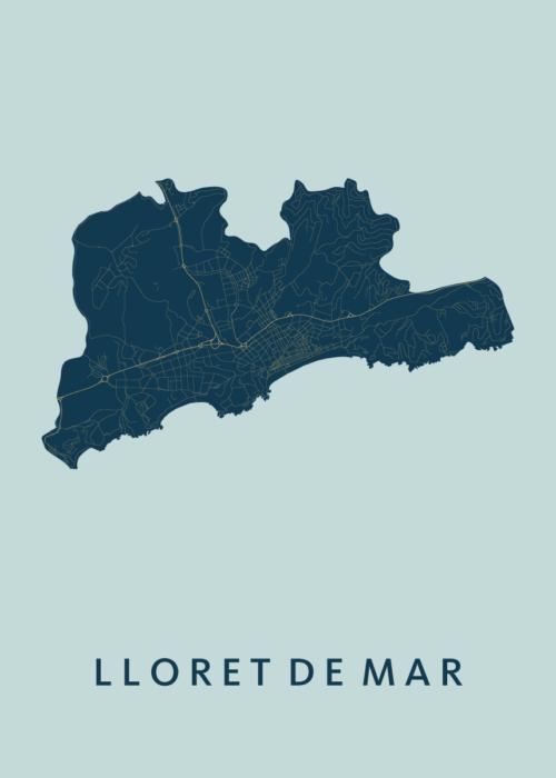 Lloret de Mar Prussian City Map