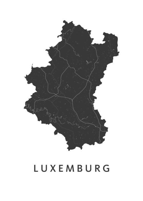 Luxemburg Provinciekaart Poster