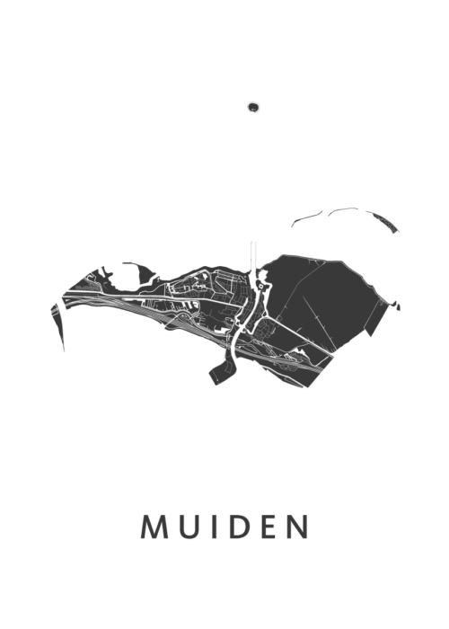 Muiden Stadskaart - White