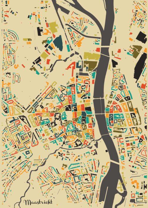 Maastricht Autumn Mosaic Map