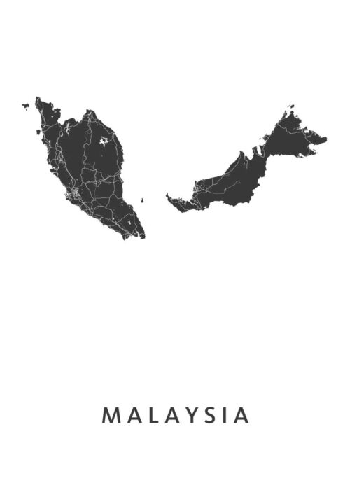 Malaysia Landkaart
