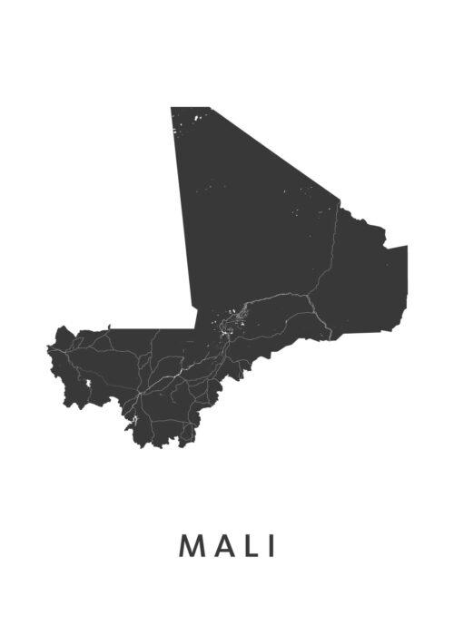 Mali Landkaart
