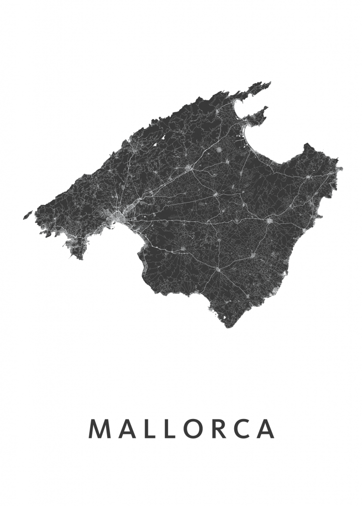 mallorca white map
