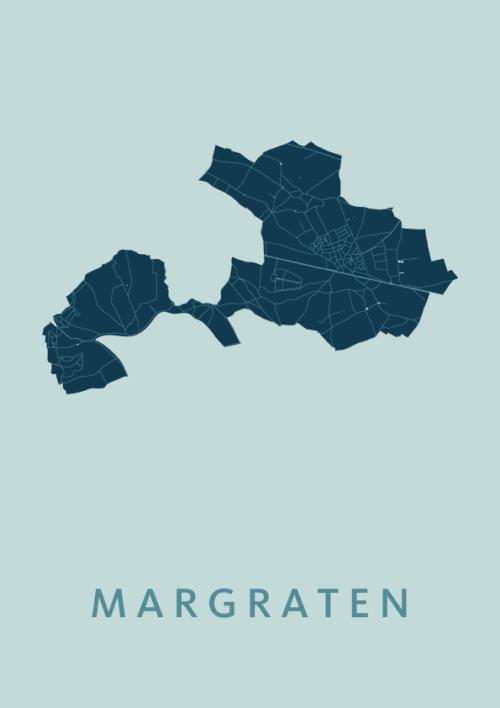 Margraten Mint Stadskaart Poster | Kunst in Kaart