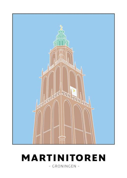 Martinitoren - Groningen - Poster