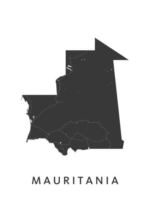 Mauritania Landkaart