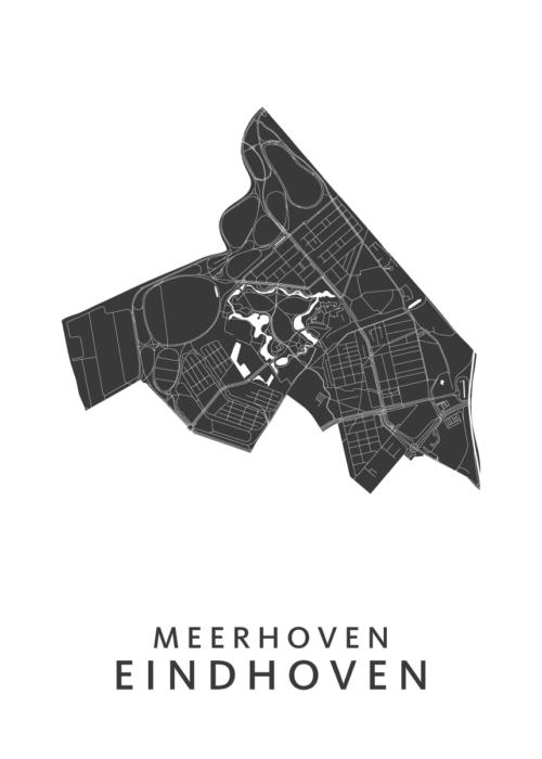 Eindhoven - Meerhoven White Wijk Map