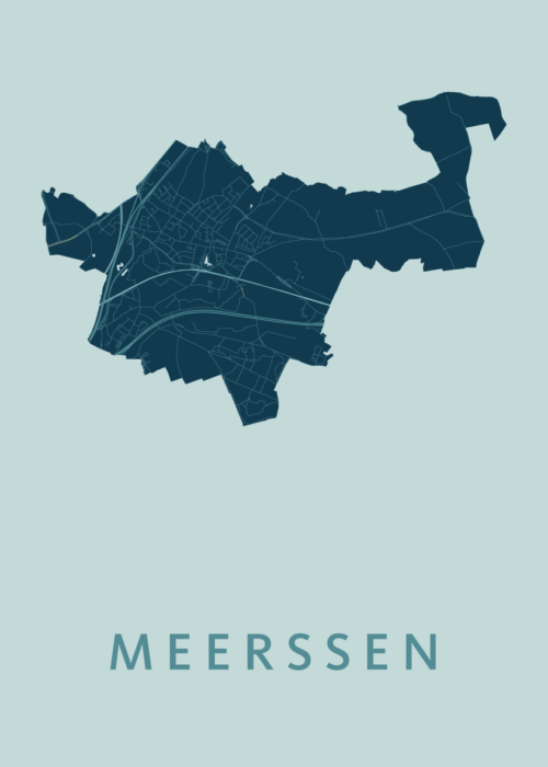 Meerssen Mint Stadskaart Poster   Kunst in Kaart