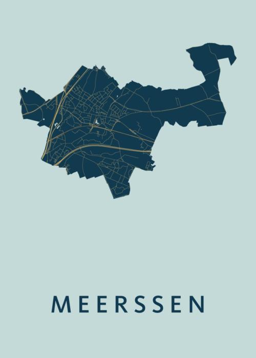 Meerssen Prussian Stadskaart Poster   Kunst in Kaart