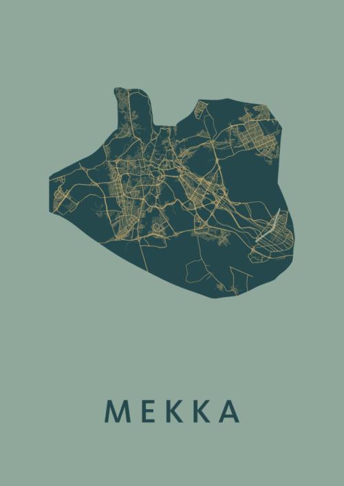 Mekka Amazon Stadskaart Poster   Kunst in Kaart