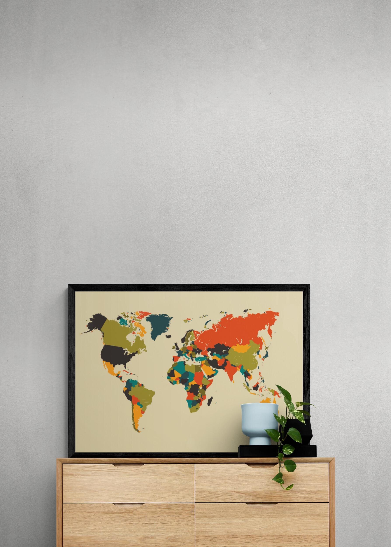 Wereldkaart posters - Mozaïek
