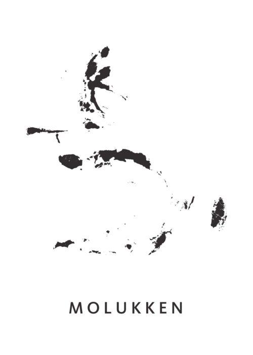 Molukken Provinciekaart poster eilanden