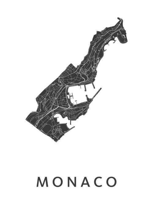 Monaco Country Map