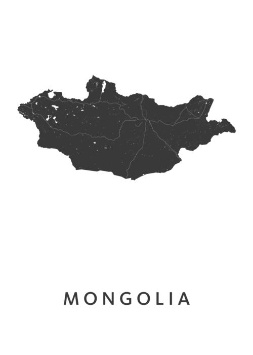 Mongolia Landkaart