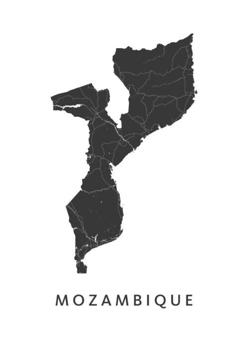Mozambique Landkaart