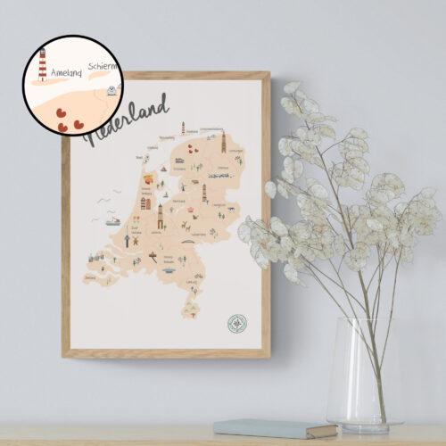 Nederland Poster Kinderkamer Kinderen