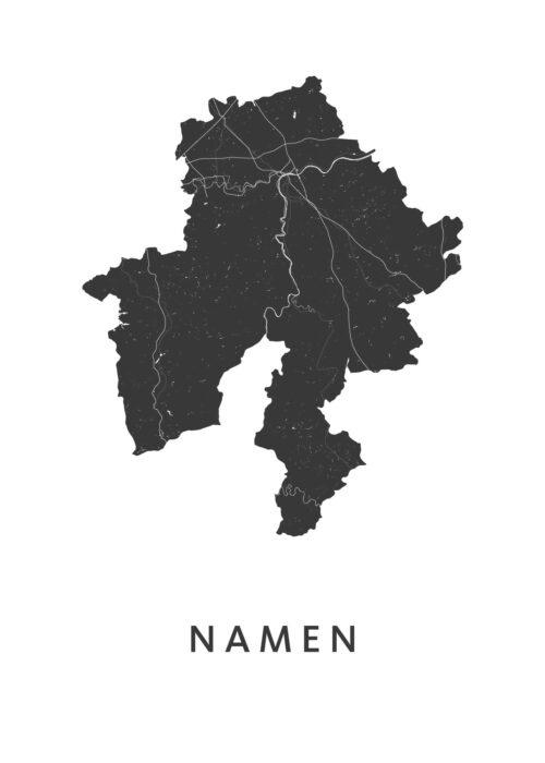 Namen Provinciekaart Poster