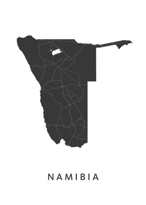 Namibia Landkaart