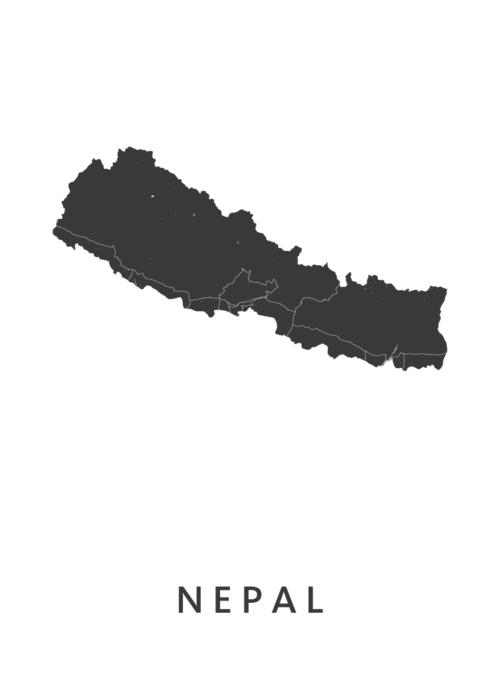 Nepal Landkaart