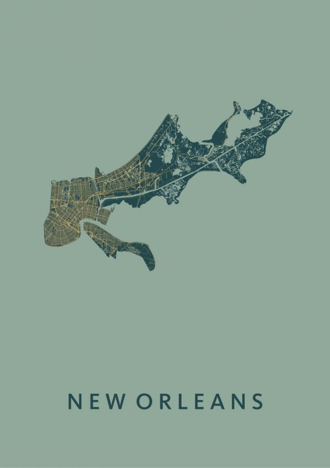 New Orleans Amazon City Map