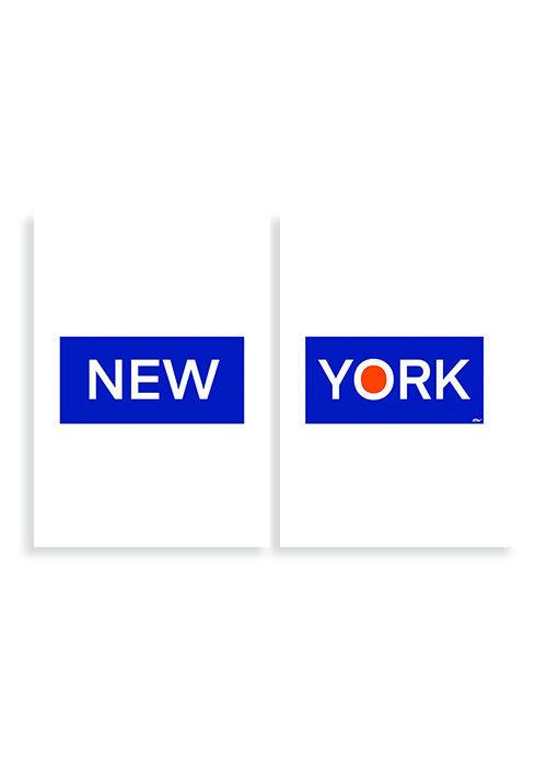 New York Tekst Poster