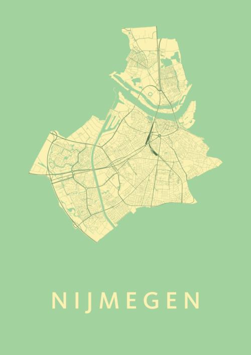 Nijmegen Spring Stadskaart Poster | Kunst in Kaart