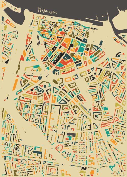Nijmegen Autumn Mosaic Map