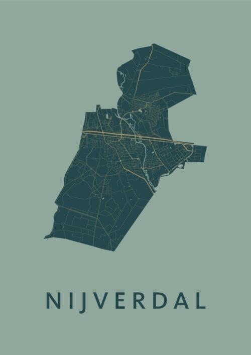 Nijverdal Amazon Stadskaart Poster | Kunst in Kaart