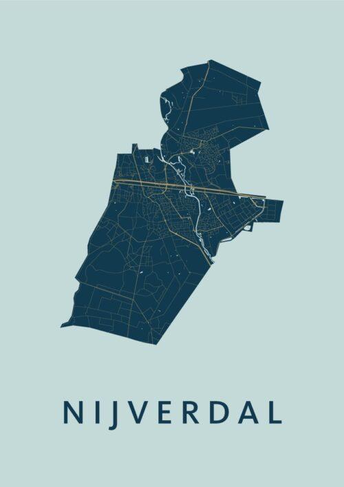 Nijverdal Prussian Stadskaart Poster | Kunst in Kaart